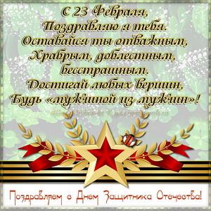 Картинка с красивым пожеланием к Дню Защитника Отечества