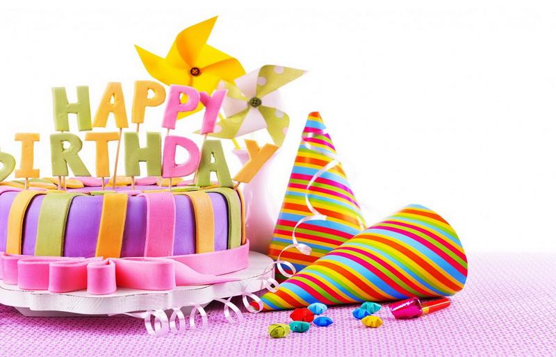 С днём рождения, торт, украшения
