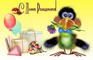 С днём рождения, ворона, подарки