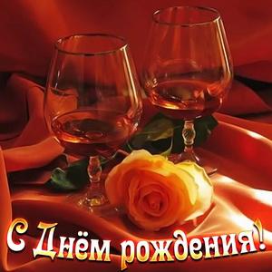 Бокалы и роза в красивом оформлении