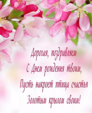 Поздравление девушке на фоне цветов