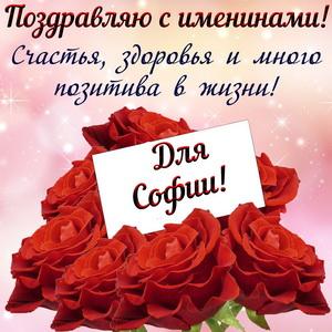 Картинка Софии на именины с цветами