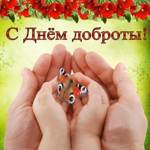 Бабочка в ладонях на День доброты