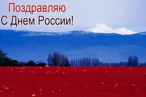 Поздравляю с Днём России, цвета флага