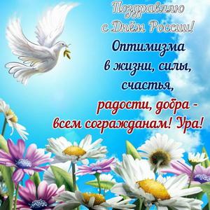 Картинка на День России с поздравлением