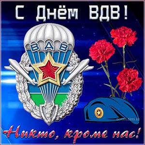 Картинка на День воздушно-десантных войск с гвоздиками