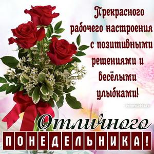 Красивые розы на картинке для отличного понедельника
