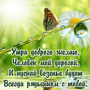 Пожелание доброго утра дорогому человеку