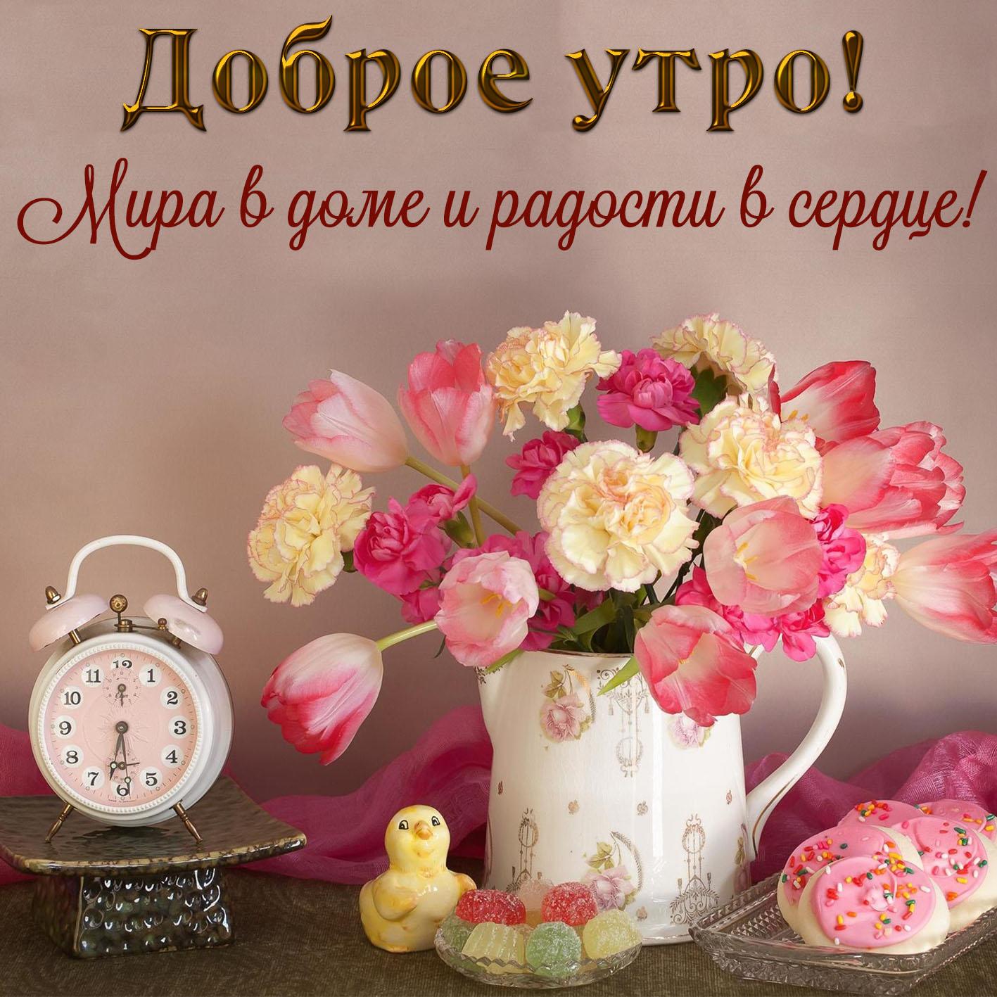 Доброе утро фото с надписью красивые