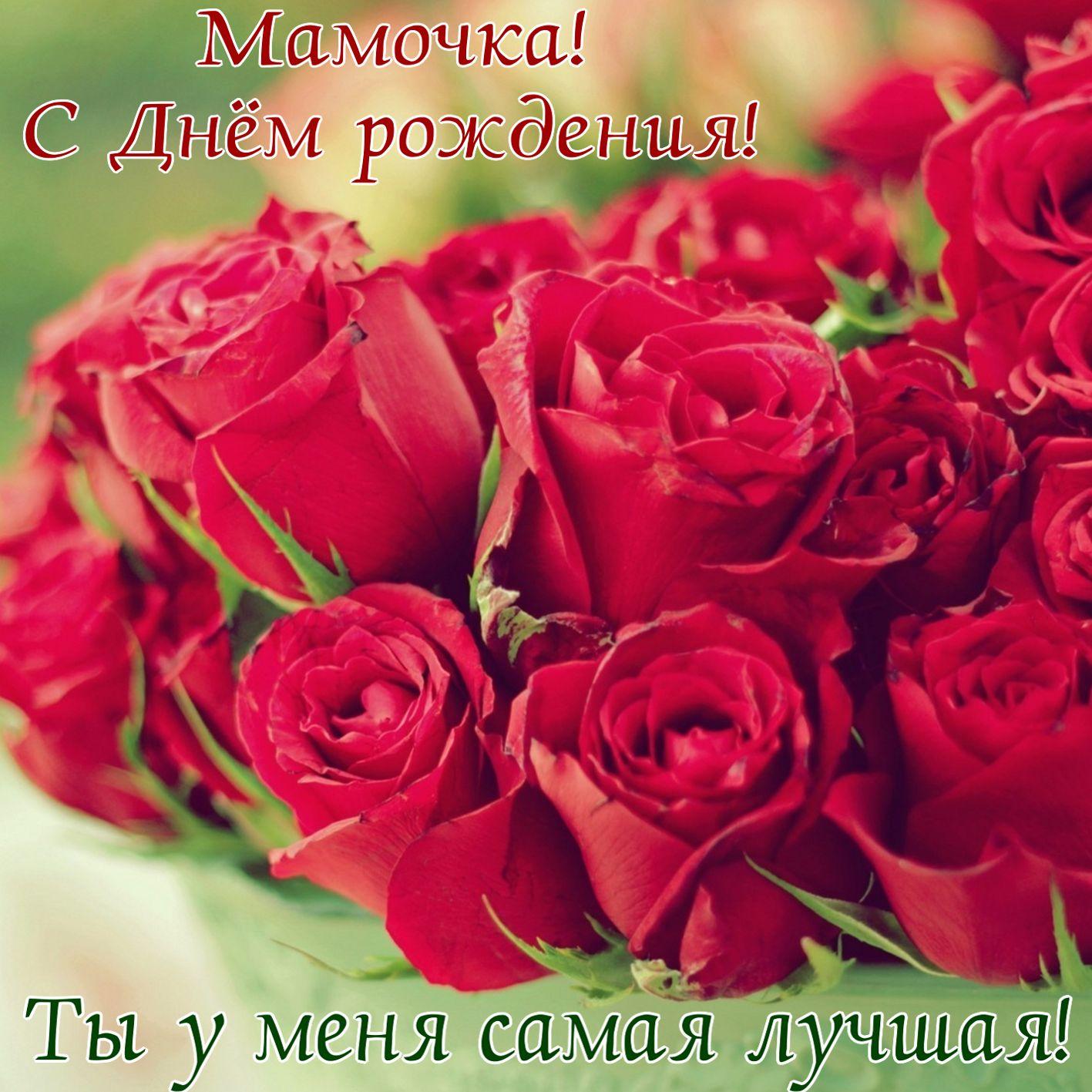 Красивые розы для самой лучшей мамочки