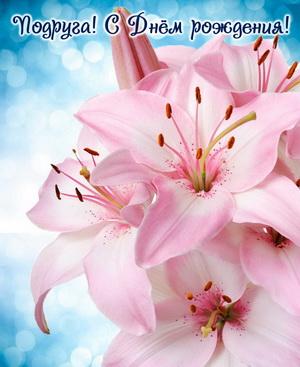 Огромные розовые цветы на День рождения подруге