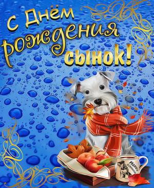 Милая собачка в оранжевом шарфике