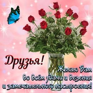 Букет роз друзьям для замечательного настроения