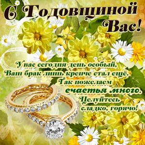 Картинка с красивыми кольцами на годовщину свадьбы