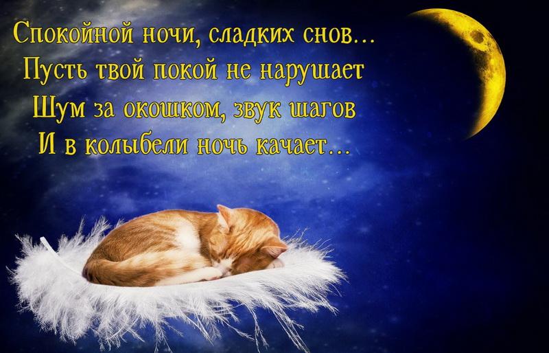 Красивое пожелание тем, кто ложится спать