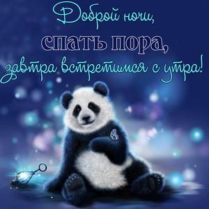 Забавный медвежонок желает доброй ночи
