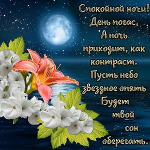 Красивое пожелание спокойной ночи в стихах