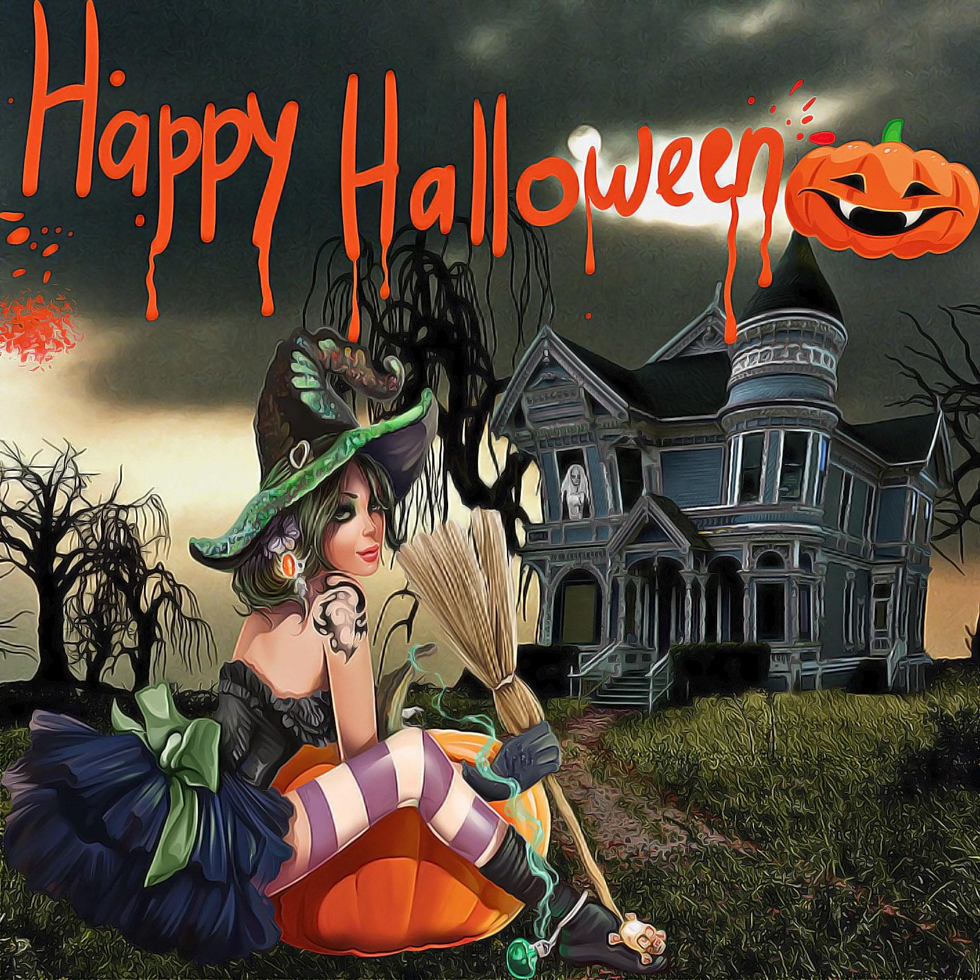 Открытки к хэллоуину на английском, народ