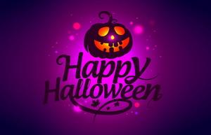 Тыква и надпись Happy Halloween