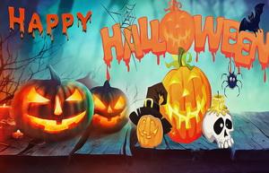 Картинка с тыквами на Хэллоуин