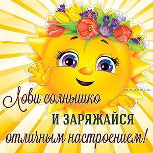 Лови солнышко и заряжайся отличным настроением