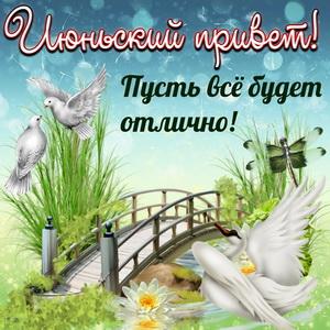 Июньский привет с мостиком и птичками