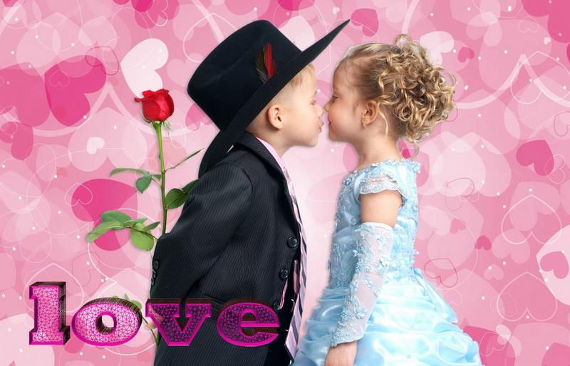 С днём святого валентина, мальчик, девочка