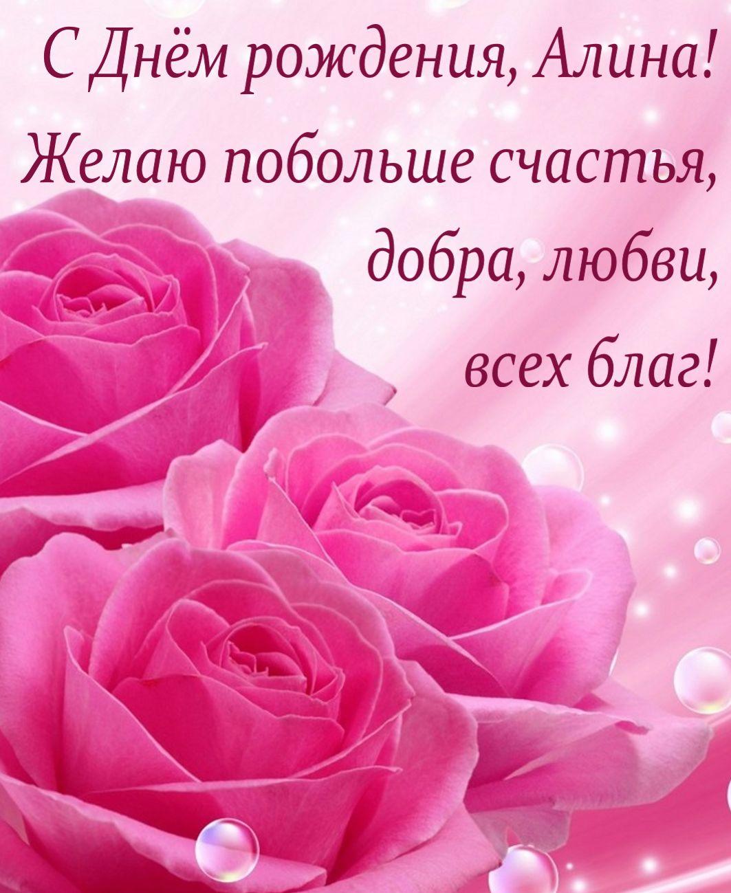 Пожелание на фоне красивых, нежных роз