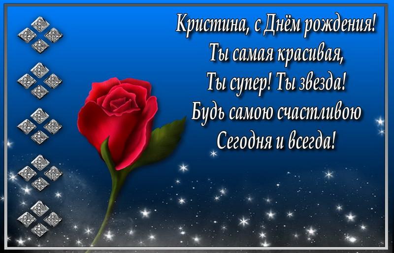 Красная роза на синем фоне в рамке