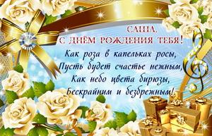 Пожелание Саше на День рождения