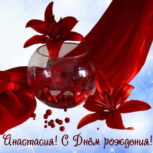 Картинка с красными цветами для Насти