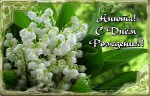 Цветы в рамке на День Рождения Анне.