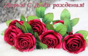 Красные розы на День рождения Дарье