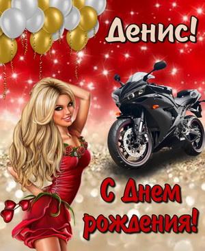 Красивая девушка на фоне мотоцикла