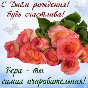 Красивые розы на День рождения Вере