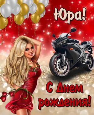 Картинка с девушкой и мотоциклом