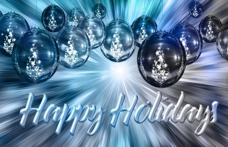 С новым годом, абстрактные елочные шары