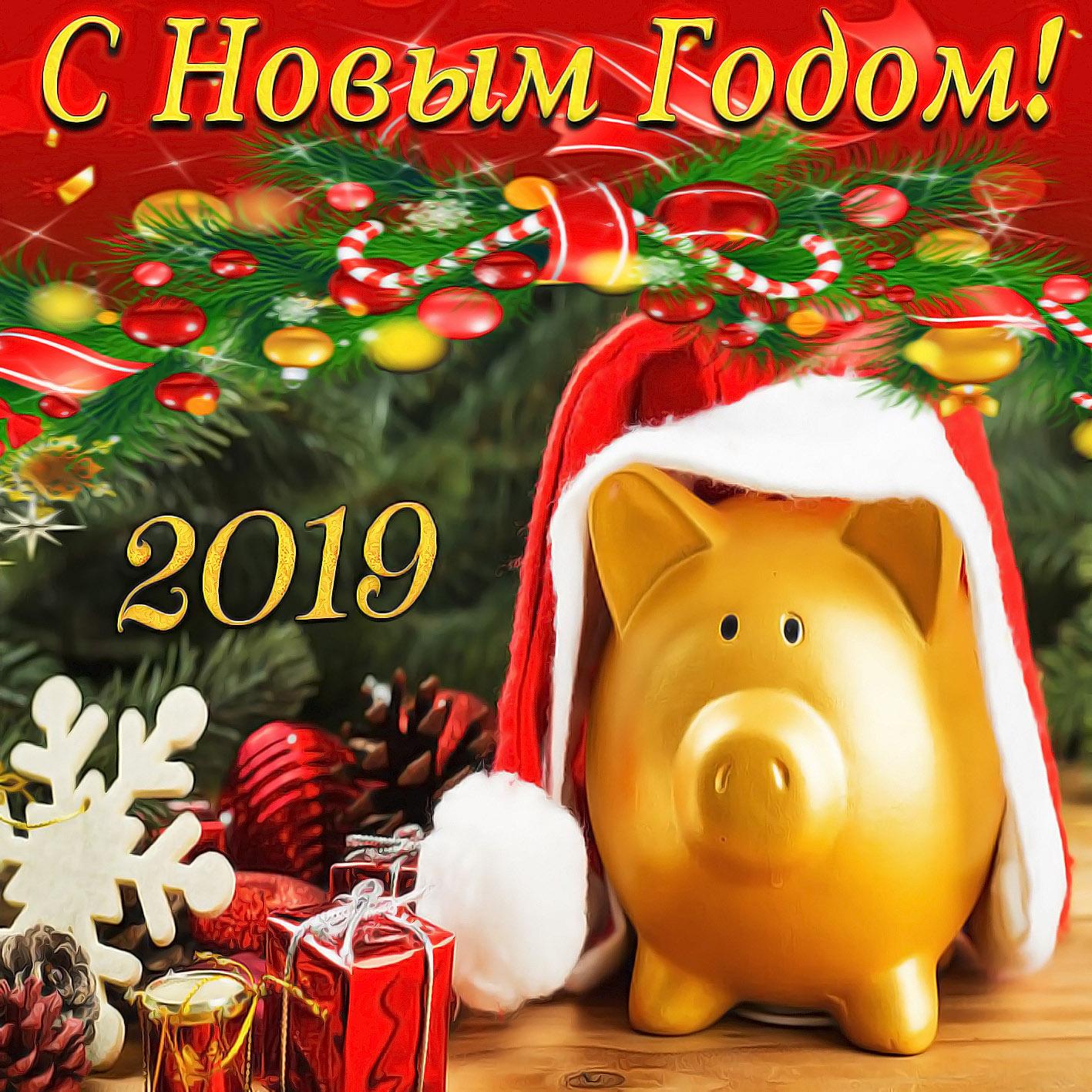 Картинка открытка на новый год 2019