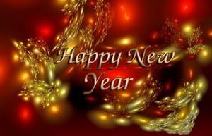 Happy New Year, расплывчатые елочные шары
