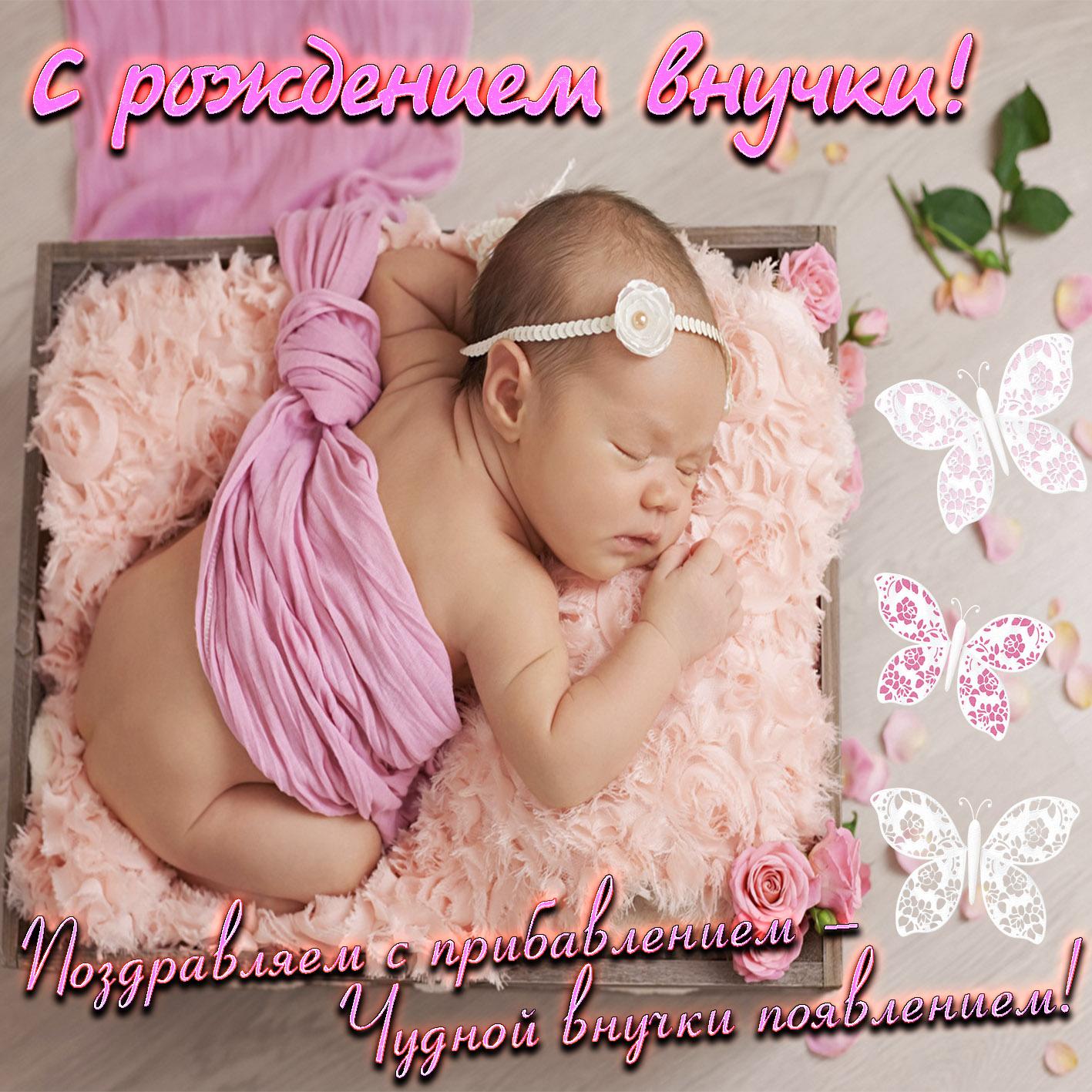 Поздравление бабушке с внучкой новорожденной картинки