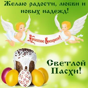 Кулич с яйцами к дню Светлой Пасхи