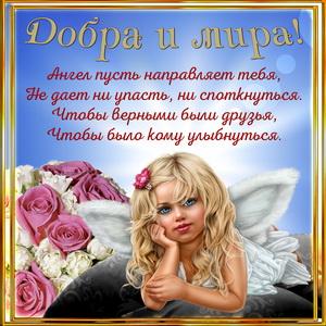 Ангелочек желает тебе добра и мира