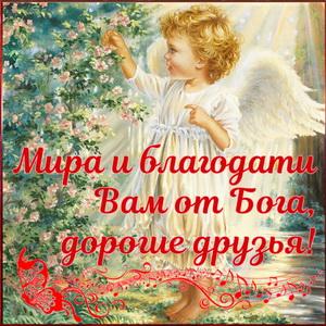 Мира и благодати Вам от Бога, дорогие друзья
