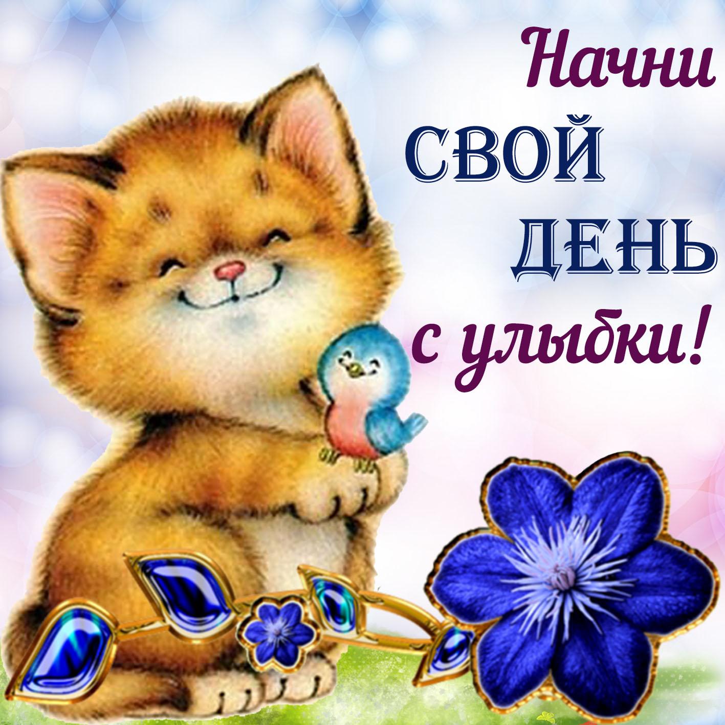 Поздравления, картинки с надписями начни свой день с улыбки