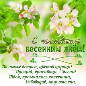 Красивое пожелание на последний весенний день