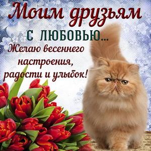 Пожелание весеннего настроения друзьям с любовью