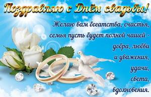 Поздравление на День свадьбы