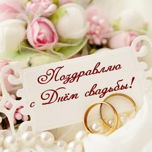 Кольца и поздравление на свадьбу