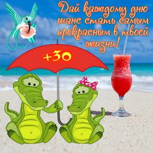 Открытка с крокодильчиками под зонтом