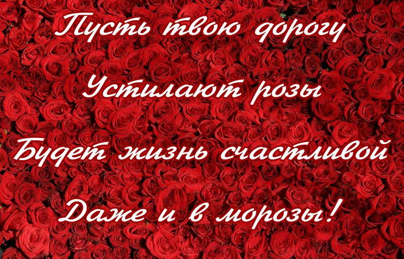 Открытка - пусть твою дорогу устилают розы